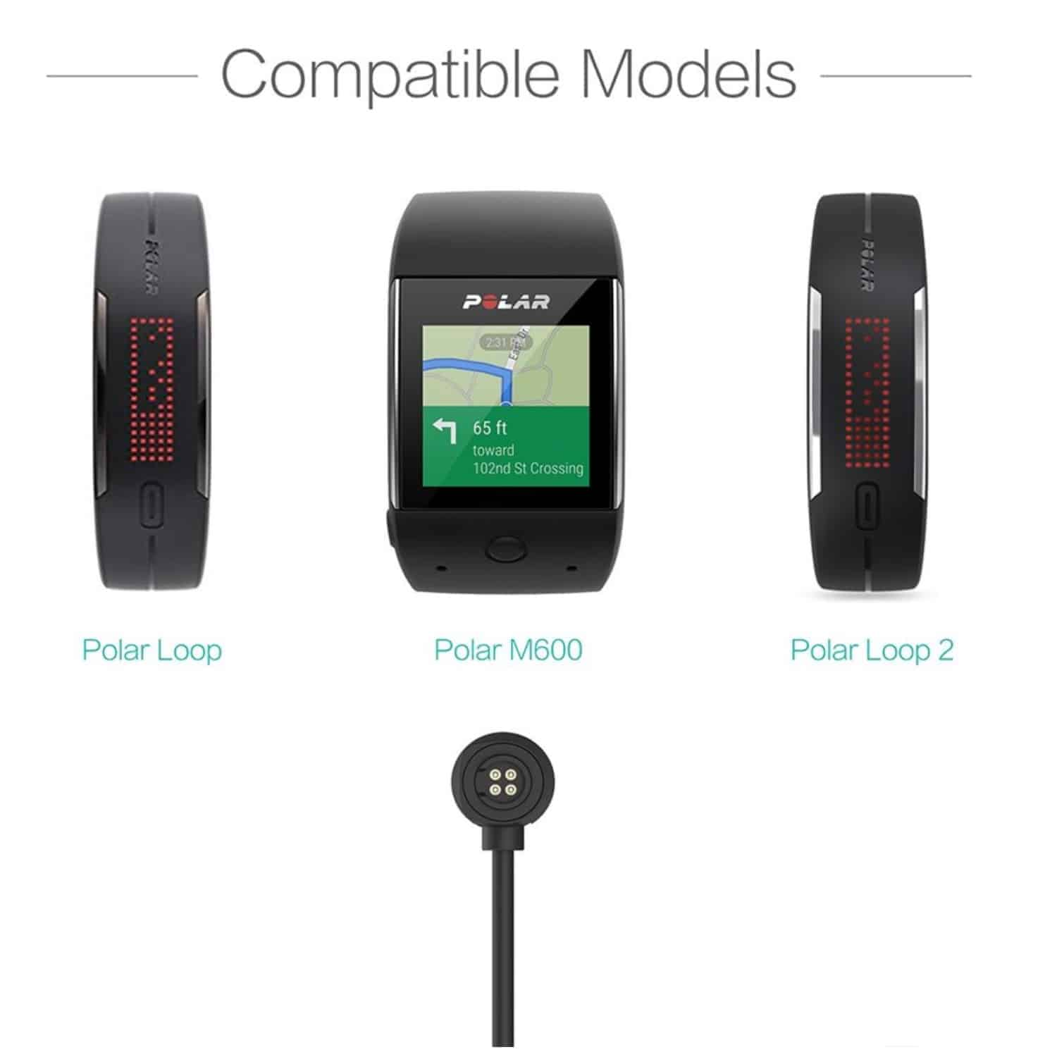 Polar Loop M600 Charging Cable Smart Watch Charging Cable