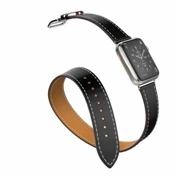 Apple Leather Wrap Strap